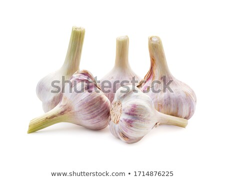 group of garlics a heads of garlics isolated stock photo © bloodua