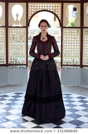 Romantic gothic girl in Victorian style clothes  Stock photo © Elisanth
