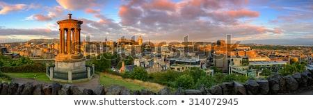 パノラマ · エディンバラ · スコットランド · 建物 · 日没 · 教会 - ストックフォト © hofmeester