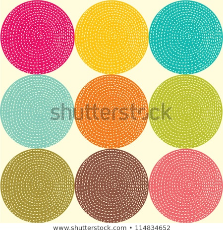 seamless zigzag and circles dots pattern stock photo © creative_stock