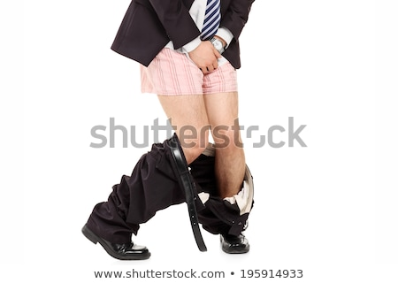 человека глядя белье белый тело черный Сток-фото © AndreyPopov