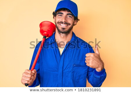 portrait of happy plumber stock photo © andreypopov