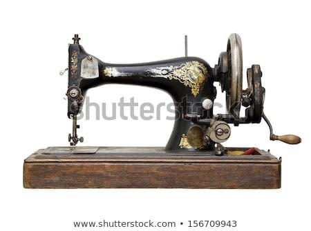 Eski dikiş makinesi arka plan makine araç antika Stok fotoğraf © c-foto