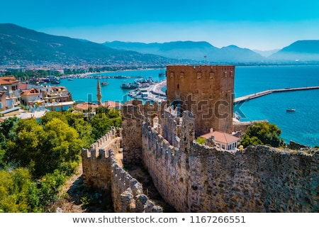 Turks middellandse zee zee stad boom Stockfoto © kravcs