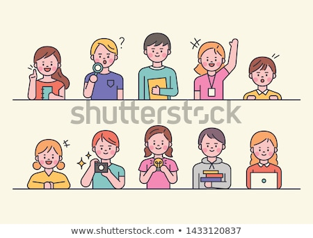 Cute young student. stock photo © lithian