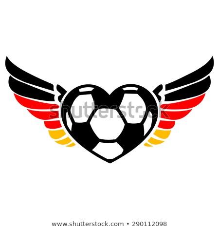 futebol · Alemanha · bandeira · eps · 10 · vetor - foto stock © krisdog