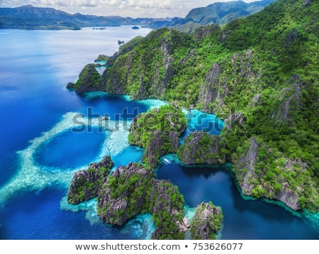 Stock photo: Limestone cliff in Palawan