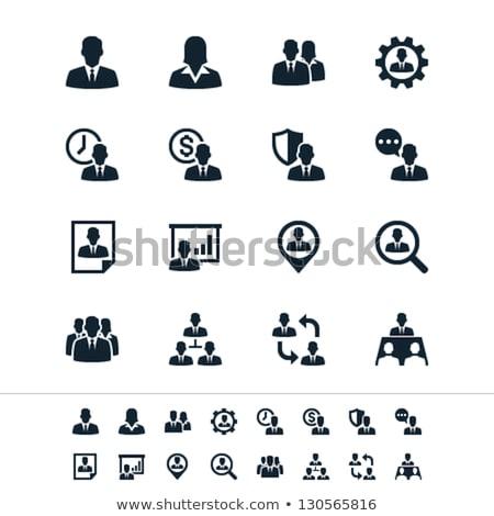 female manager icons set stock photo © voysla