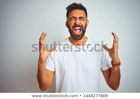 człowiek · zdenerwowany · negatywne · ludzi - zdjęcia stock © ichiosea