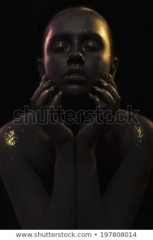 Close-up portrait of a beautiful woman over abstract background Stock photo © Nejron