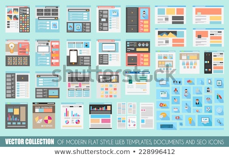Flat UI Mega Collection: Icons: web and  technology Stock photo © DavidArts