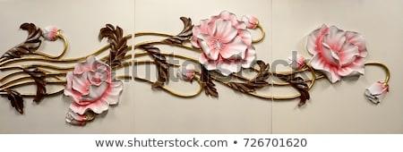 ネイティブ · 文化 · タイ · スタッコ · 石の壁 · タイ - ストックフォト © thanarat27