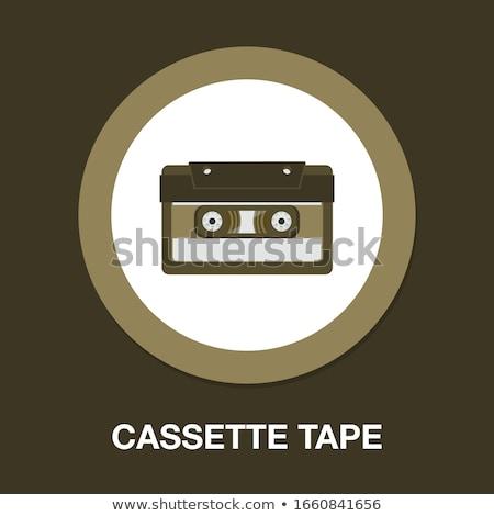 Audio cassette bande blanche musique rétro Photo stock © FOKA
