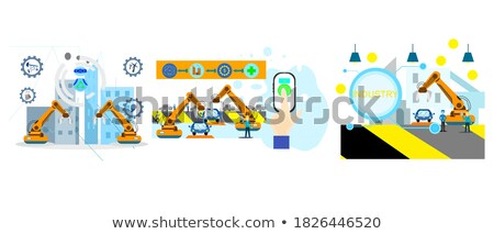 Armed robot. Techology security concept. Isolated on white background Stock photo © Kirill_M