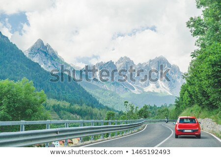 Small car is on road Stock photo © cherezoff