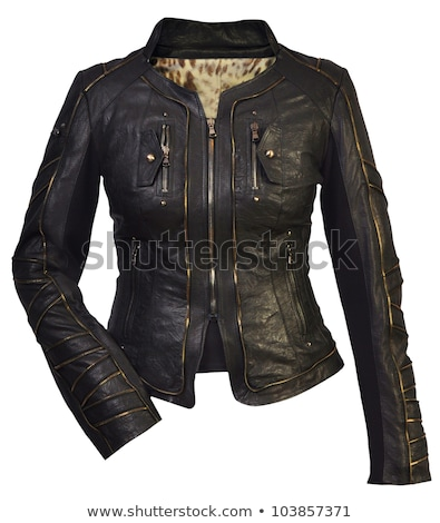 woman in black leather suit stock photo © nicoletaionescu