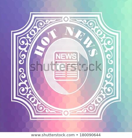 latest news pastels vintage design concept stock photo © tashatuvango