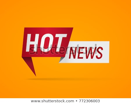 hot news on orange in flat design stock photo © tashatuvango