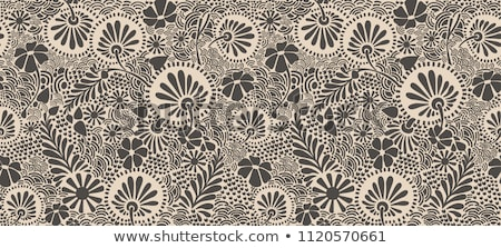 Seamless decorative floral pattern with clover, shamrocks Stock photo © elenapro