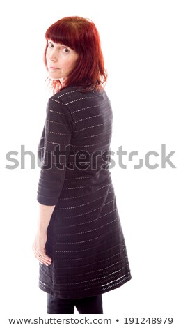 side profile of a mature woman looking over shoulder stock photo © bmonteny