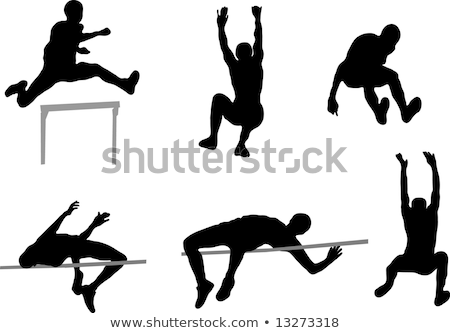 高跳び スポーツ スポーツ 行使 フライ スタジアム ストックフォト © OleksandrO