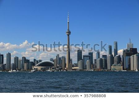 City at the waterfront, CN Tower, Lake Ontario, Toronto, Ontario, Canada Stock photo © bmonteny