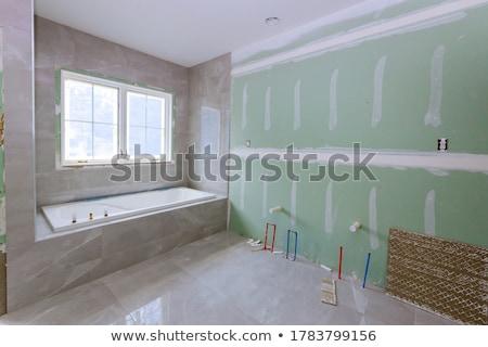 Banheiro reconstrução construção interior banho Foto stock © Sarkao