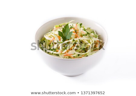 Homemade coleslaw in a white bowl stock photo © raphotos