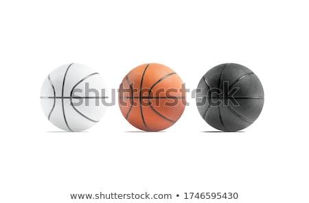 Stock fotó: 3d · render · illusztráció · kosárlabda · fehér · sport · játék