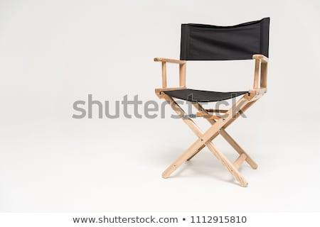 Stuhl 3D erzeugt Bild Film schwarz Stock foto © flipfine
