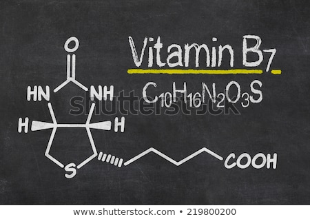 Blackboard with the chemical formula of Vitamin B7 Stock photo © Zerbor