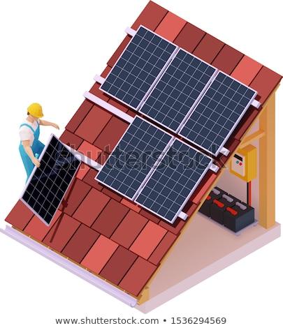 Fotovoltaica bateria salvar poder sol tecnologia Foto stock © flipfine