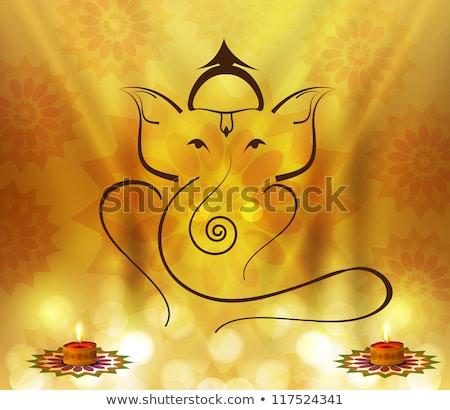 abstract artistic golden ganesha background Stock photo © pathakdesigner