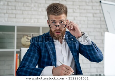 mad businessman Stock photo © feelphotoart