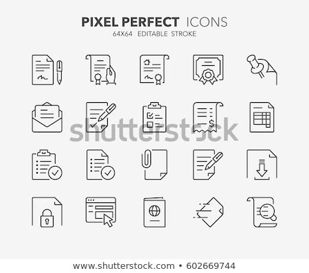 documents note icons set stock photo © wittaya