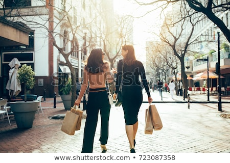 торговых город красоту женщину женщины улице Сток-фото © anacubo