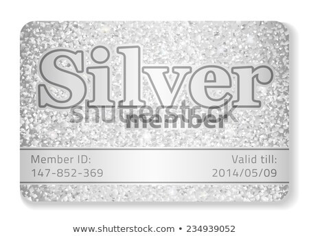 Silver member VIP card composed from glitters Stock photo © liliwhite
