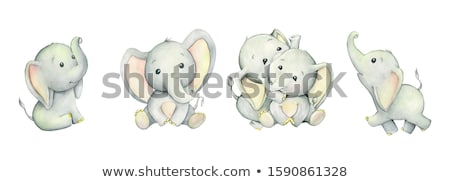 colorful cute elephants background Stock photo © kariiika