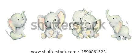 elefántok · vektor · végtelenített · textúra · stilizált · indiai - stock fotó © kariiika