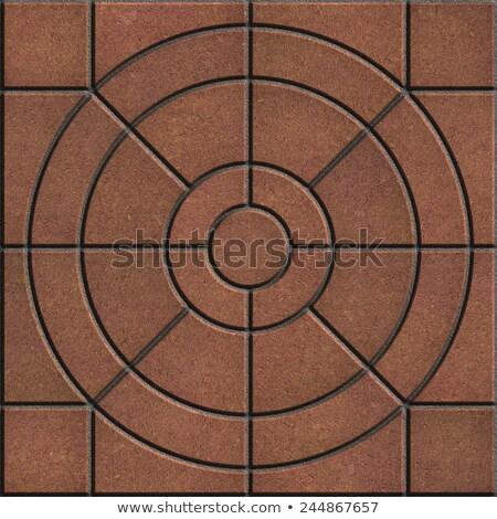 Bruin trottoir vorm cirkels verschillend maat Stockfoto © tashatuvango