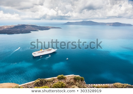 Romantische zee cruise portret cute blond Stockfoto © Anna_Om