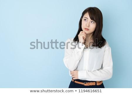 attrattivo · japanese · donna · guardando · sorridere - foto d'archivio © elwynn