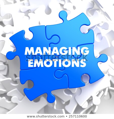 Managing Emotions on Blue Puzzle. Stock photo © tashatuvango