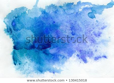 Resumen azul marco acuarela papel Foto stock © mcherevan