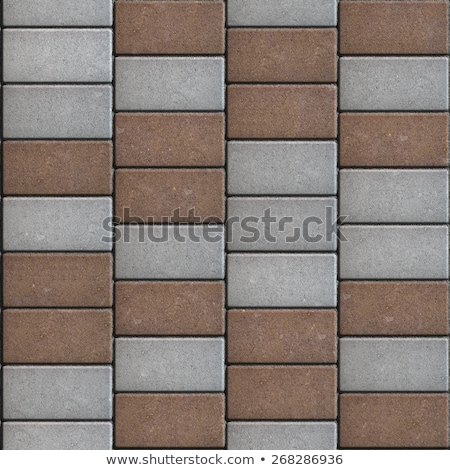 Gray and Brown  Paving Consisting of  Rectangles Laid Out in a Chaotic Manner. Stock photo © tashatuvango
