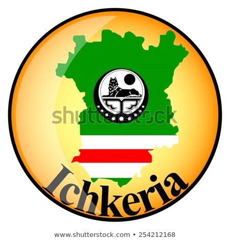 orange button with the image maps of ichkeria stock photo © mayboro