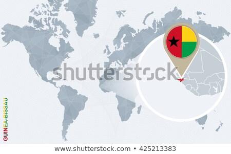 フラグ ピン ギニア 孤立した 白 世界 ストックフォト © MikhailMishchenko