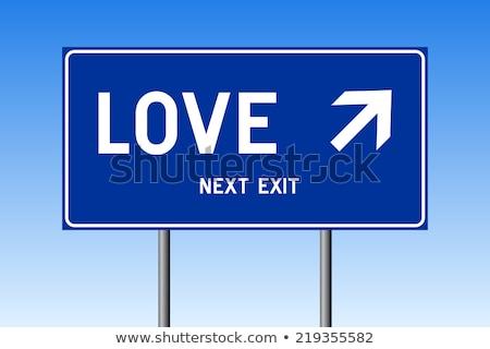 способом улице подписать любви счастливым сердце подарок Сток-фото © Ustofre9