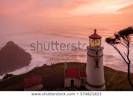 Stock photo: Heceta Head Lighthouse At Sunset