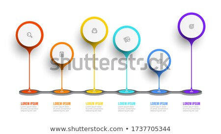 Fluxo de trabalho ícone relógio tecnologia software área de trabalho Foto stock © WaD